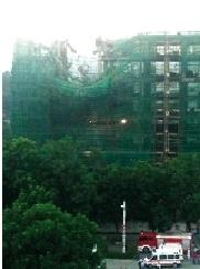 11月22日,汕尾一栋在建楼房楼身右侧从4层至9层发生坍塌。