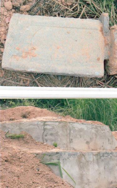 被强拆后的坟墓