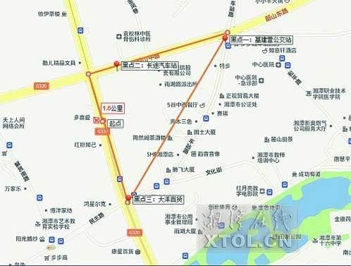 网友制作的湘潭反扒地图
