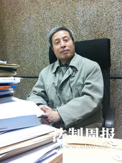 柳肃教授。记者 蒋格伟 图