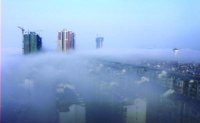 昨日上午,株洲出现平流雾。图/摄友团朱少培