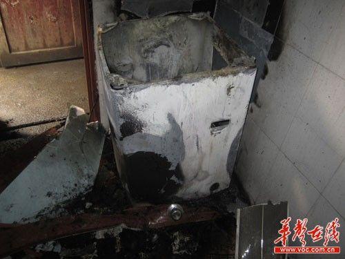 燃烧后的小天鹅洗衣机-网友供图