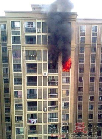 昨日中午的大火,让燕女士的新家被毁了。