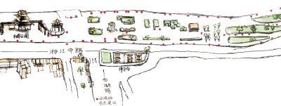 湘江风光带垃圾桶布点手绘图。图/曙光公社环保小组提供