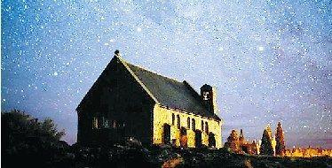 新西兰麦肯奇盆地的满天繁星