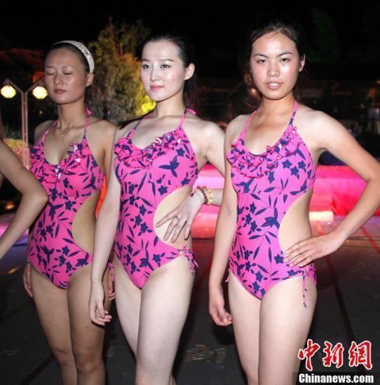 世界旅游小姐安徽区总决赛泳装环节图片