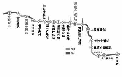 长沙地铁2号线站点建设进程图 ■制图/陈琮元