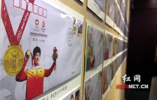(奥运邮展,记录着中国奥运健儿曾经的辉煌。)