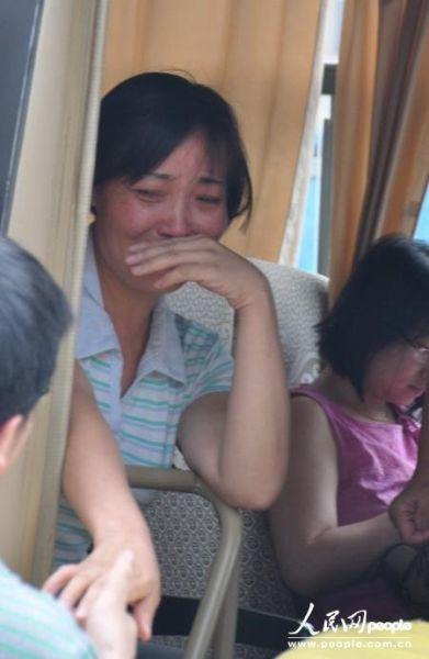 唐慧在长沙乘车准备返回永州
