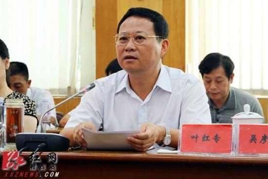 湘西自治州委副书记、州长叶红专作重要讲话