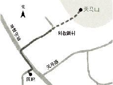 周克华可能的活动路线图。