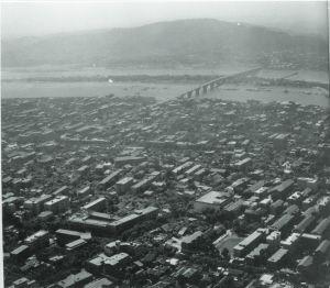 1970年代末,长沙城市俯拍图。