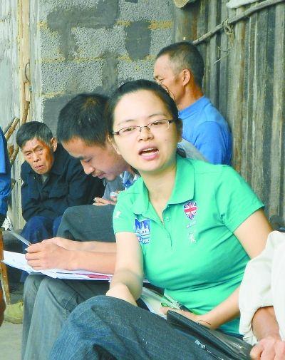 桑植县西莲乡党委书记、人大主席吴俞萍 通讯员 摄