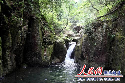 龙虎大峡谷里的石涧清流。