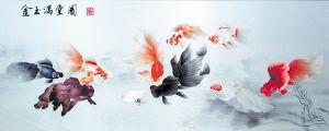 湘绣城生产的《金玉满堂》。