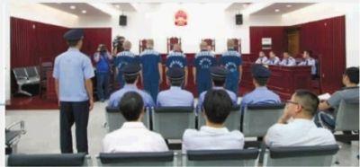 9月18日上午,长沙市中级人民法院对刘发国等5名罪犯减刑假释公开开庭审理。 通讯员 胡淋伟 摄
