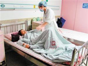 医院称小张身体已无大碍。深圳晚报见习记者 陈章琦 摄