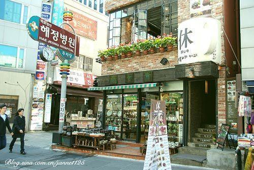 仁寺洞位于首尔市中心
