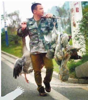 长沙现场 记者近日途经长沙市芙蓉南路郊区,路边有零零散散两三人挑着野禽进行兜售。这些野禽还都是活着的,谁来管管?这个准卖?! 记者 李丹 摄