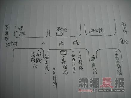 识字岭地图。手绘/钟剑
