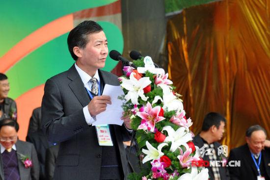 国家农业部副部长陈晓华致辞。