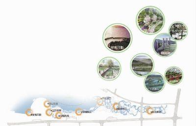 松雅湖南部园林景观规划图。