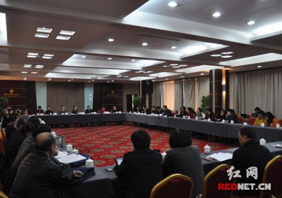 政协湖南省第十一届委员会第一次会议文艺、科技等两个界别的委员联组讨论《政府工作报告》。