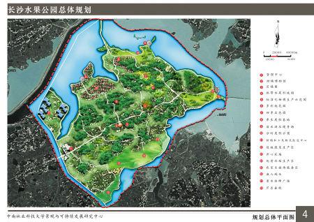 赤龙岛水果庄园初步总体规划图。   龚再蓉供图