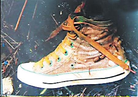 打捞上的帆布鞋和杨丽君坠井时穿的极为相似。