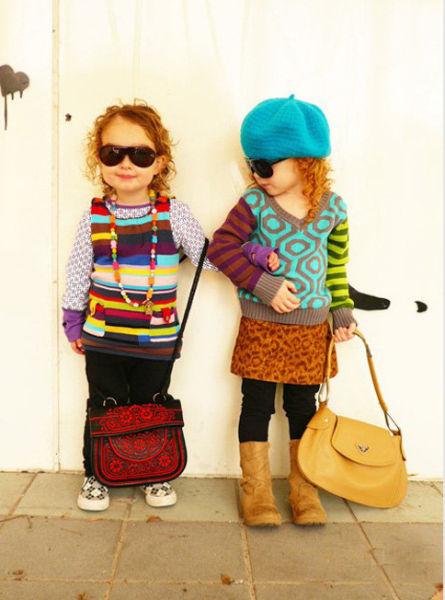 可爱小孩潮爆街头 时尚美搭羡煞大人