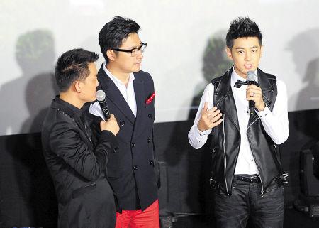 昨日下午,《爸爸去哪儿》首映礼现场,林志颖接受主持人采访。