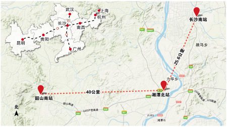 湘潭北站连接线又称银盖北路