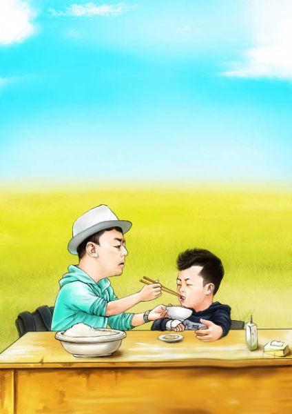 【娱乐】爸爸去哪儿再曝囧爸萌宝q版可爱海报