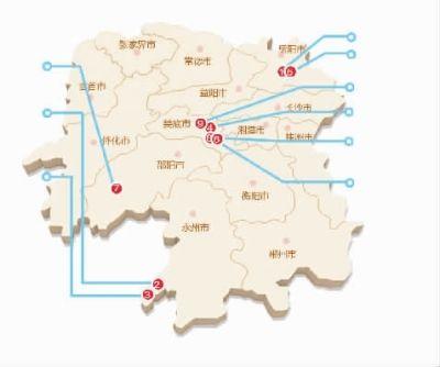 湖南省涟源市地图