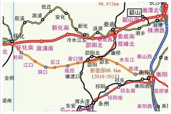 湖南邵阳市大祥区、双清区、北塔区地图