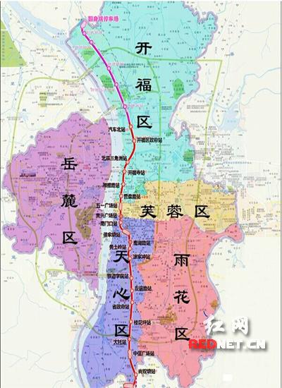 长沙五一广场手绘地图
