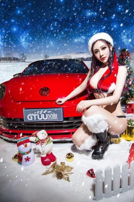 孙依宁代言大众甲壳虫改装车平面广告高清图片