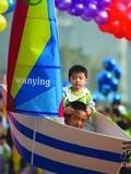 长沙上万人参与亲子运动会