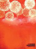 橘洲夜空上演3D焰火