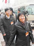 湖南代表团代表抵达北京