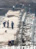 长沙潮宗街古城墙考古发掘现场