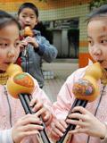 湖南一小学组建双胞胎乐队