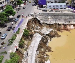 宁乡60米护坡坍塌