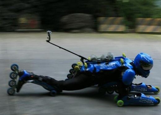滑轮师挑战天门山