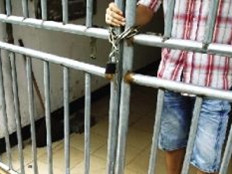 学校铁链锁宿舍门